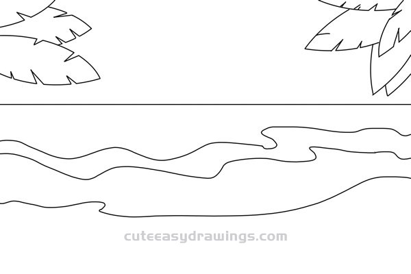 How to Draw a Beach Scene Easy Step by Step for Kids