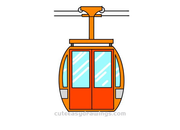 How to Draw a Cable Car Easy Step by Step for Kids