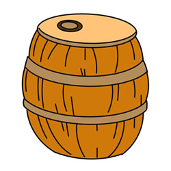 How to Draw a Wood Barrel Easy Step by Step for Kids