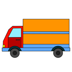 How to Draw a Box Truck Easy Step by Step for Kids