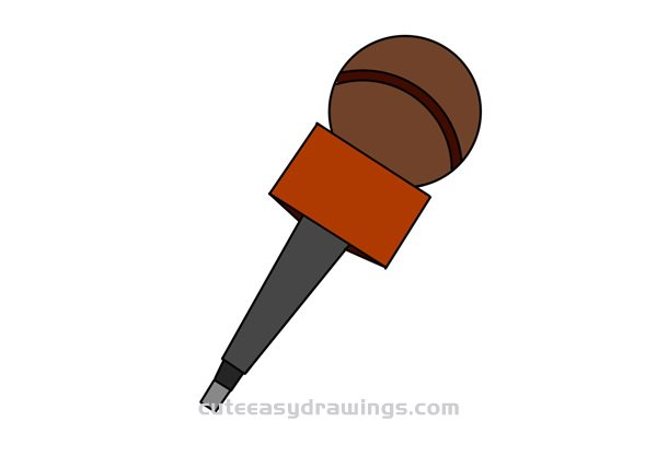 Microphone Drawing Tutorial Easy for Kids
