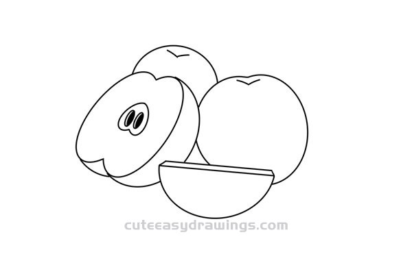How to Draw Red Apples Easy Step by Step for Kids