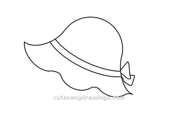 Summer Ladies Hat Drawing Easy Step by Step for Kids