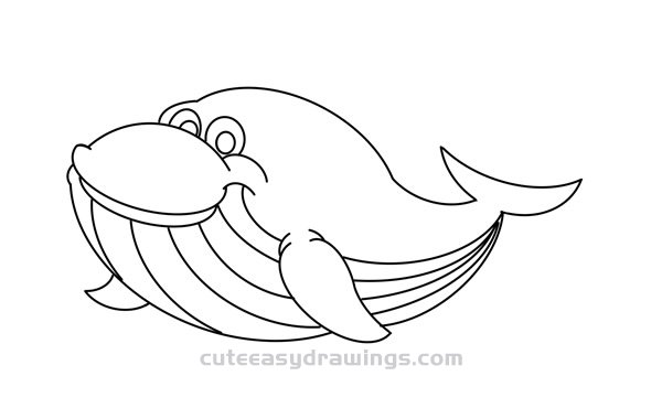 Cartoon Blue Whale How to Draw Easy for Kids