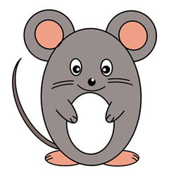 How to Draw a Standing Mouse Tutorial Step by Step for Kids