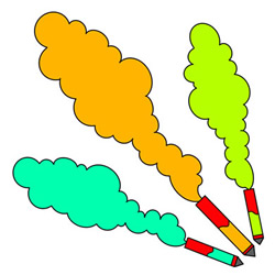 How to Draw Firecrackers with Colorful Smoke Easy for Kids