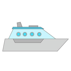 How to Draw a Cartoon Yacht Easy Step by Step for Kids