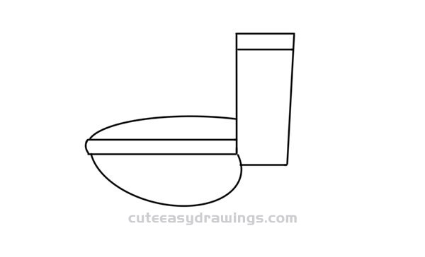 How to Draw a Flush Toilet Easy Step by Step for Kids