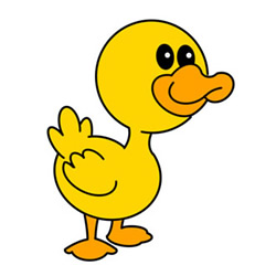 How to Draw a Duck Baby Easy Step by Step for Kids