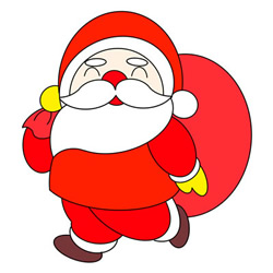 How to Draw Santa Claus Walking Easy for Kids