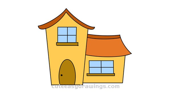 How to Draw a Cartoon House Easy Step by Step for Kids