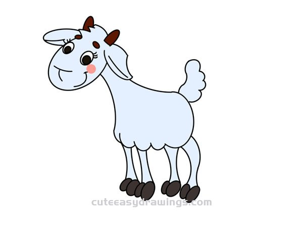 How to Draw a Sheared Sheep Easy Step by Step for Kids