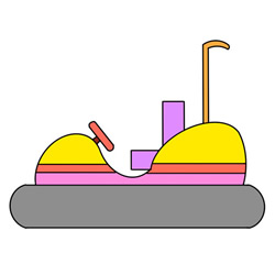Simple Bumper Car Drawing Tutorial Step by Step for Kids