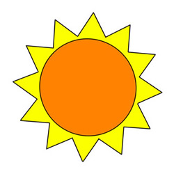 How to Draw the Simplest Sun Step by Step for Kids