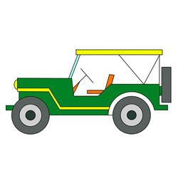 How to Draw an Off-Road Vehicle Easy Step by Step for Kids