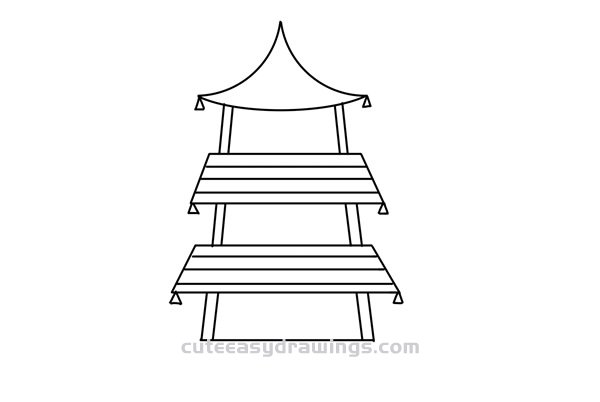 How to Draw an Ancient Chinese Tower Easy for Kids
