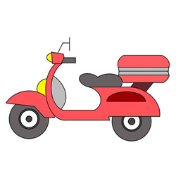 How to Draw a Electric Motorcycle Easy