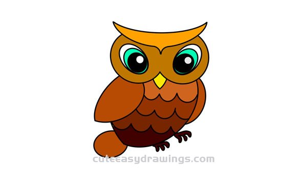 How To Draw An Owl For Kids Cute Easy Drawings