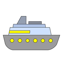 How to Draw a Cartoon Cruise Ship