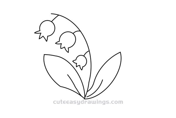 How to Draw a Lily of the Valley Easy
