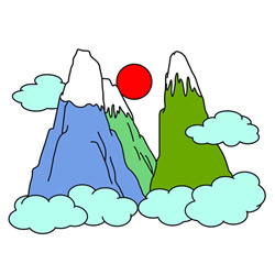 How to Draw Cartoon Peaks for Kids