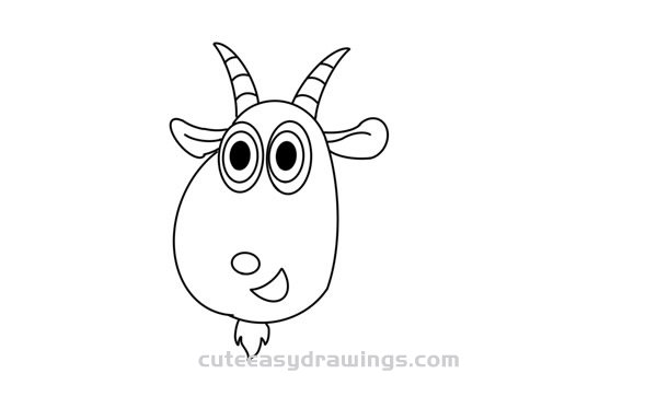 How to Draw a Cute Goat for Kids