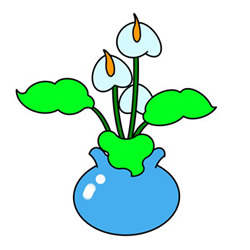 How to Draw a Calla Lily Bonsai for Kids