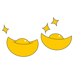 How to Draw Ancient Chinese Gold Ingots for Kids