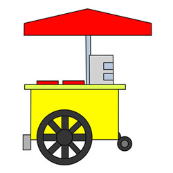 How to Draw a Food Stall Easy Step by Step for Kids