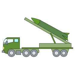 How to Draw a Missile Launch Vehicle Easy Step by Step for Kids