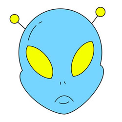How to Draw an Alien Avatar Easy Step by Step for Kids