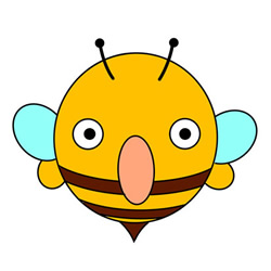 How to Draw a Strange Cartoon Bee Easy