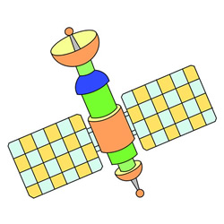 How to Draw an Artificial Satellite Easy Step by Step for Kids