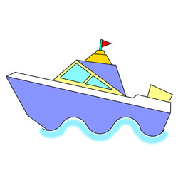 How to Draw a Cute Speedboat