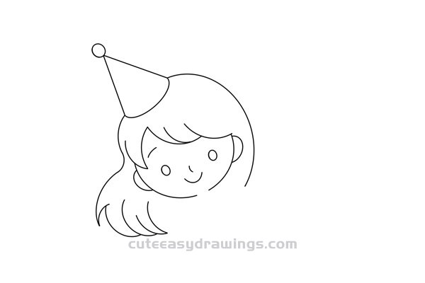 How to Draw a Birthday Girl Easy Step by Step for Kids