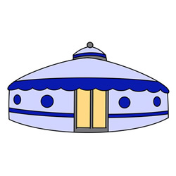 How to Draw a Mongolian Yurt Easy for Kids