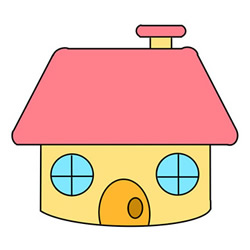 How to Draw a Cartoon Little House