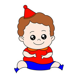 How to Draw a Birthday Boy Easy Step by Step for Kids