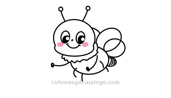 How to Draw a Bee Holding a Lamp Easy for Kids