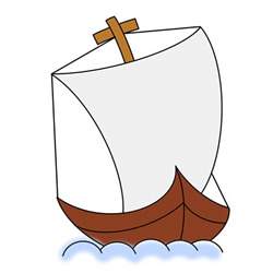 How to Draw an Ancient Sailing Ship Easy for Kids