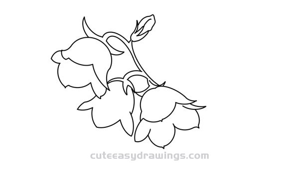 Lily of the Valley Flowers Drawing Step by Step for Kids