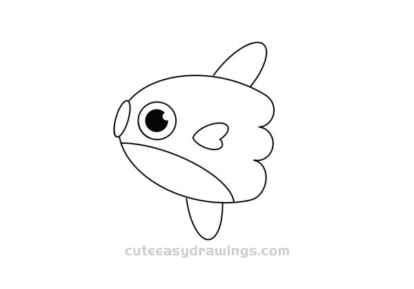 How to Draw a Cute Sunfish Easy Step by Step for Kids