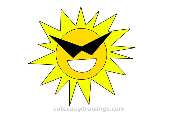 How to Draw a Cool Sun with Sunglasses