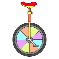 How to Draw a Unicycle Easy Step by Step for Kids