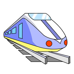 How to Draw a Cool High-Speed Train Easy for Kids