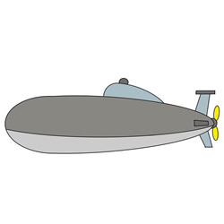 How to Draw an Attack Submarine Easy Step by Step for Kids