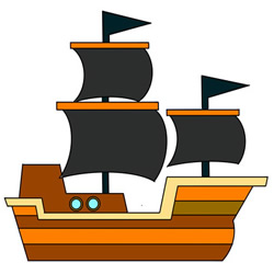 Cute Pirate Ship Drawing Easy Step by Step