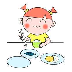 How to Draw a Little Girl Eating Easy for Kids