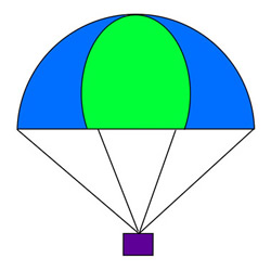 How to Draw a Parachute with Cargo Easy for Kids
