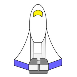 How to Draw a Cute Space Shuttle